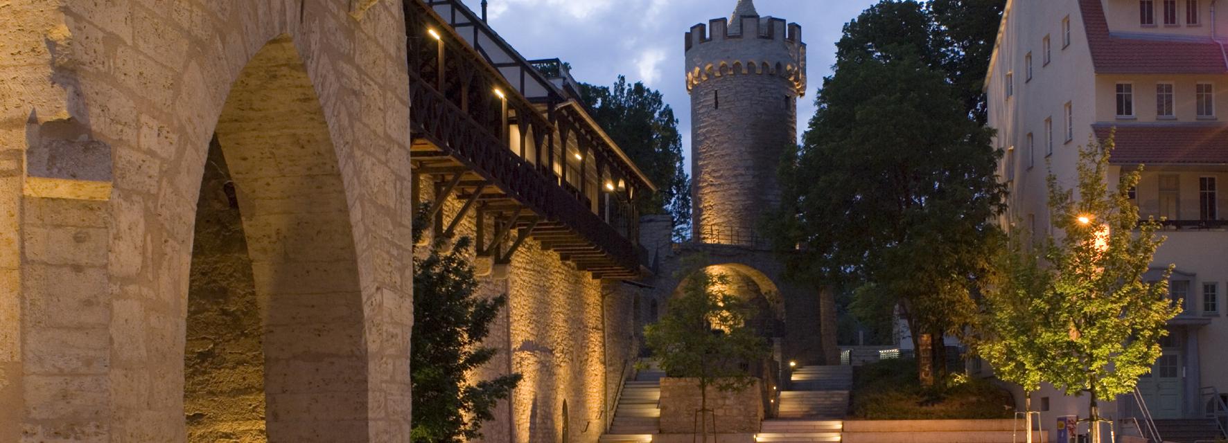Blick zum Faulloch am Jonannistor Jena. Beim Rundgang von Turm zu Turm ist man ganz nah dran! © JenaKultur, Foto: Toma Babovic