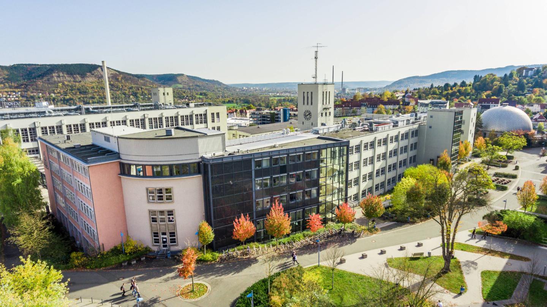 Campus der Ernst-Abbe-Hochschule Jena aus der Vogelperspektive © Ernst-Abbe Hochschule Foto: Sebastian Reuter