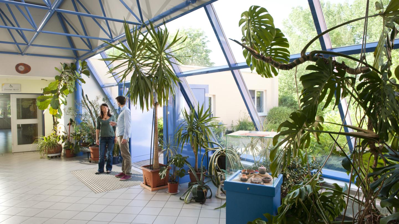 Viele verschiedene Pflanzen im Foyer des Stadtteilzentrums LISA © JenaKultur, Foto: Andreas Hub