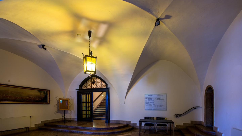 Gewölbe im Foyer des Rathauses
