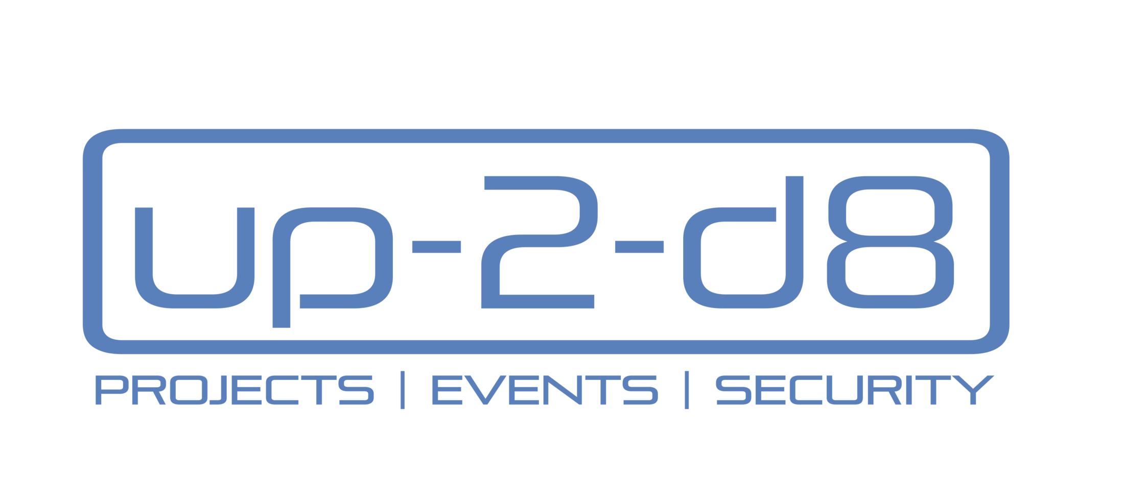 Logo von der Sicherheitsfirma up-2-d8 © Up-2-d8, Timo Löhnert