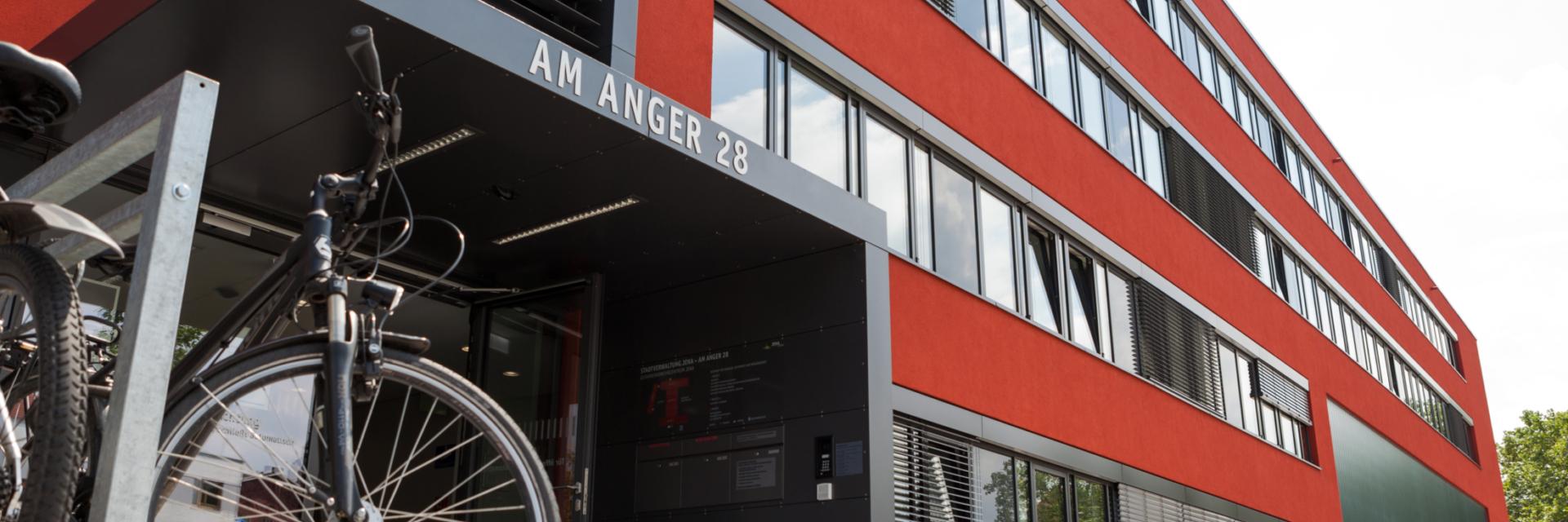 Außenansicht des Gefahrenabwehrzentrums - Ein wichtiger Ort für den Behördenwegweiser © Stadt Jena, Foto: Daniel Hering