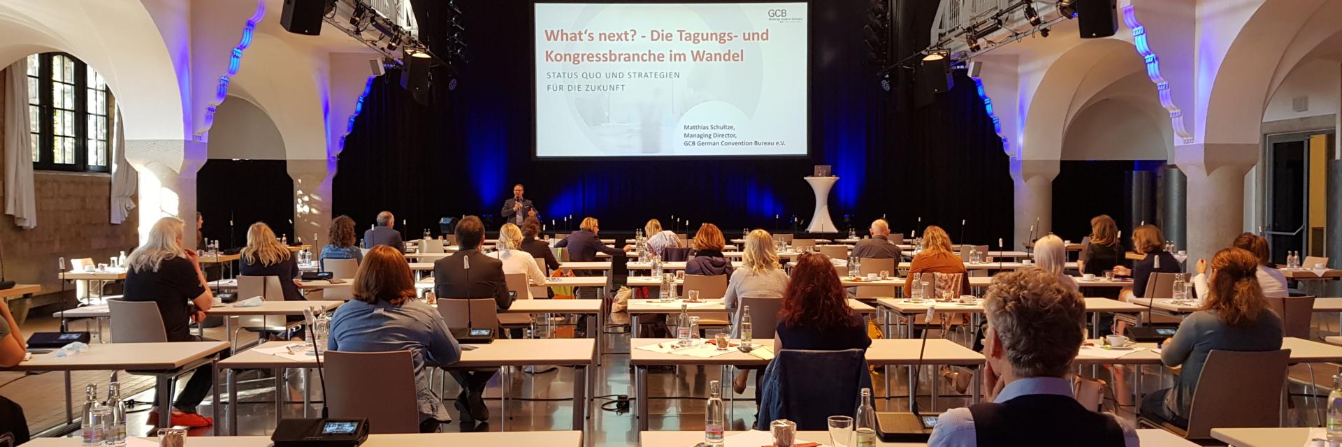 Tagungen der Zukunft - Das Treffen der Tagungsallianz unter Infektionsschutzmaßnahmen©JenaKultur, Foto: Maja Haufe