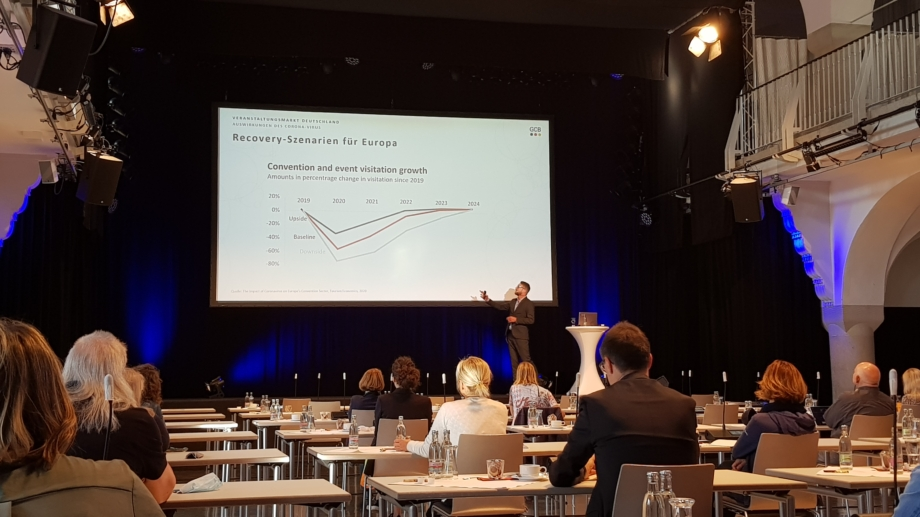 Präsentation des GCB zur Zukunft der Tagungsbranche ©JenaKultur, Foto: Maja Haufe