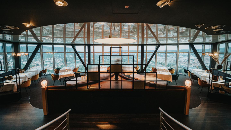 Ausblick vom Panoramasaal im SCALA Restaurant